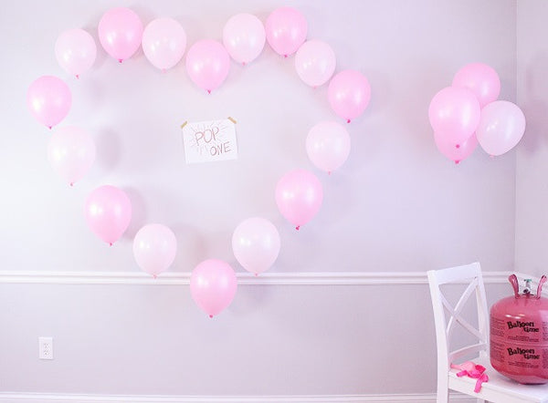 Valentines day couples Balloon game and wall decoration | The Party Project Blog.