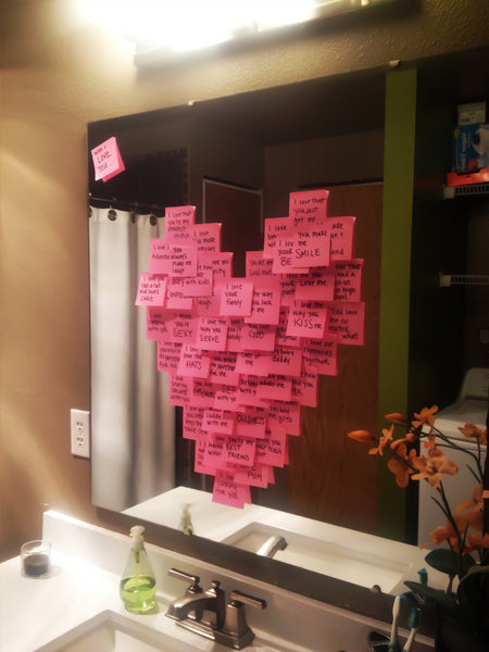 Valentines Day ideas | Heart notes. The Party Project blog.