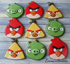 Angry Birds Cookies - Angry Birds party ideas!