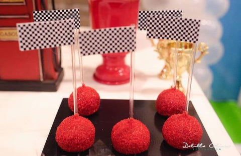 The Party Project | cars party ideas - cakepops