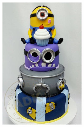 THE PARTY PROJECT | Blog - Minions party ideas despicable me 2 multi layered cake
