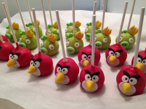 Angry Birds party cake pops