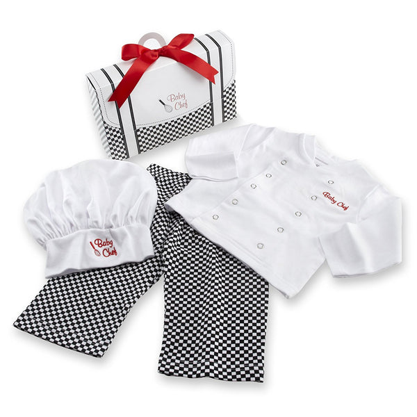 3-piece chef baby costume
