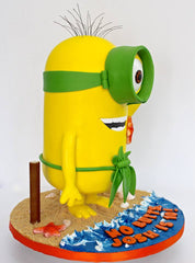 the party project blog, minion beach cake