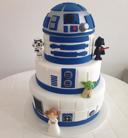 Star Wars birthday r2d2 cake idea by thepartyproject.us