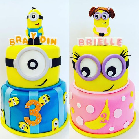 THE PARTY PROJECT Blog - boy and girl minion cake