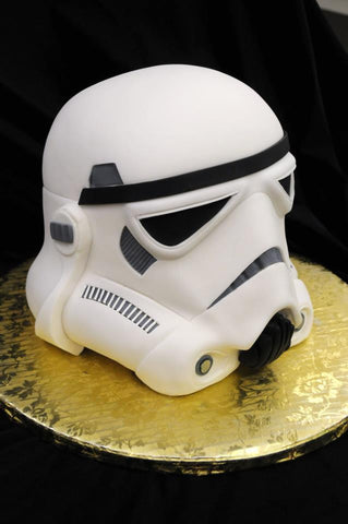 StormTropper head cake! Star Wars party ideas!