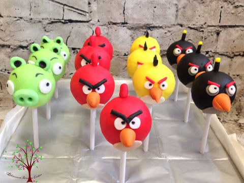 Angry Birds cake pops - Angry birds party snacks!
