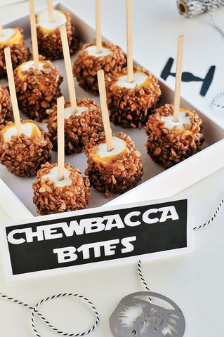 Marshmallows or apple chewbacca bites!