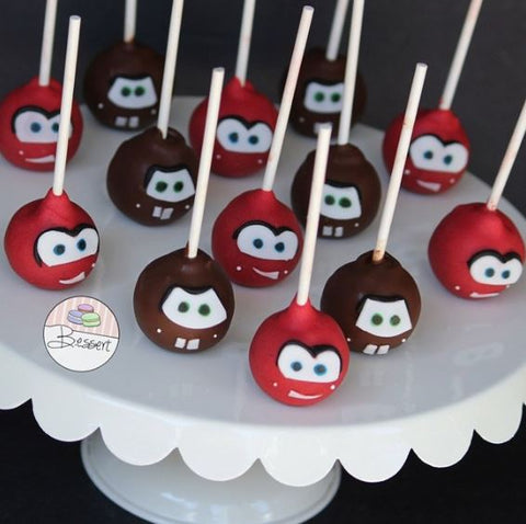 The Party Project | Cars party ideas - cake pops!