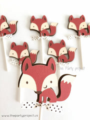 The Party Project | Fox cupcake toppers