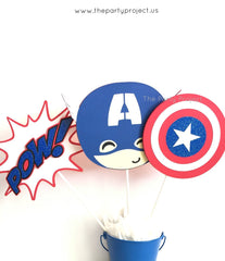 The Party Project | Captain America centerpiece