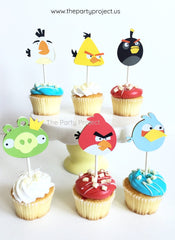 The Party Project | Angry Birds cupcake toppers