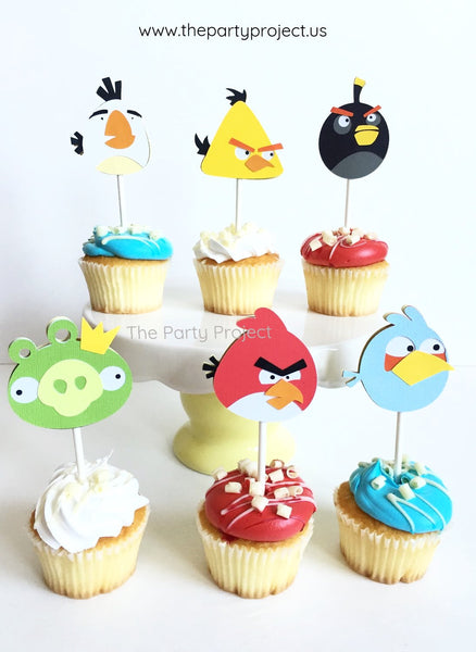 Angry Birds Cupcakes - Cupcake toppers