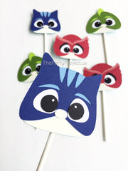 The Party Project | PJMasks cupcake toppers