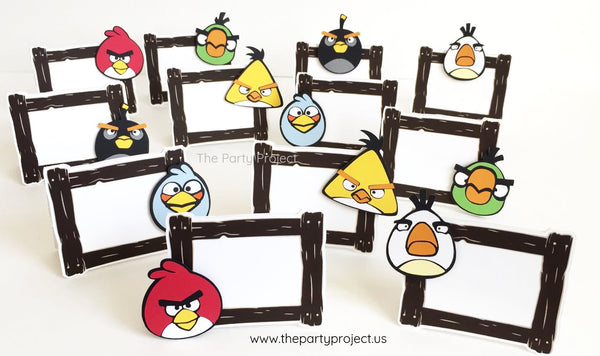 Angry birds party food tents