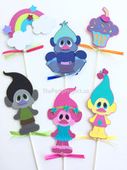 The Party Project | Trolls centerpiece