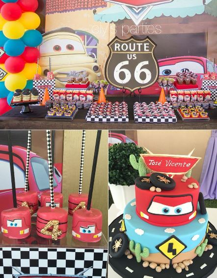 The Party Project | Cars birthday party ideas - cakes and marshmallows!