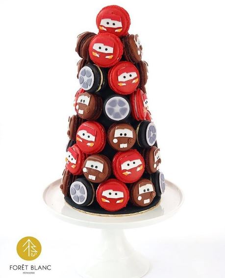 The Party Project | Cars party ideas - Macaron tower!
