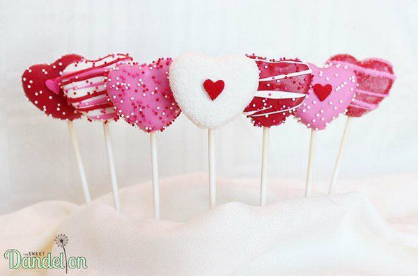 Best cakepops for valentines gifts or theme party decorations | Absolutly delicious! The Sweet Dandelion.