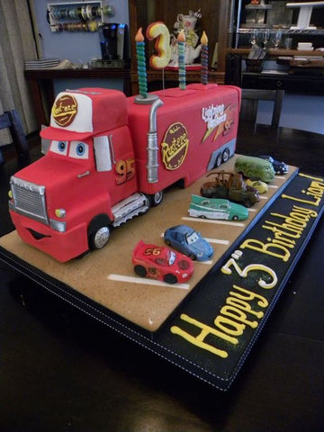 The Party Project | Cars party ideas - Mack cake!