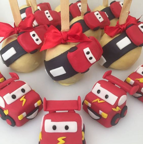 The Party Project | Lightning McQueen chocolate covered apples!
