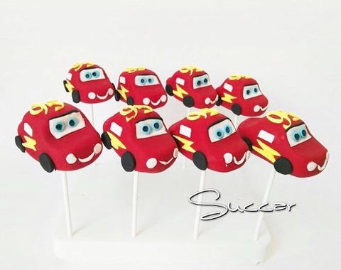 The Party Project | Cars birthday party ideas - Lighning McQueen cakepops!