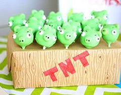 Pigs cake pops - Angry Birds party