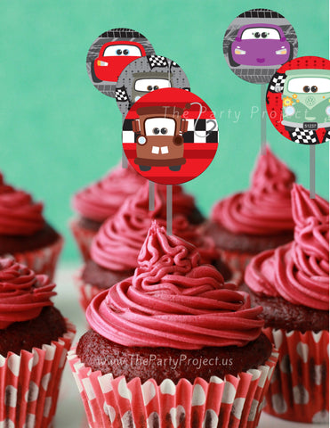 The Party Project | Cars printable cupcake toppers - Cars party ideas!