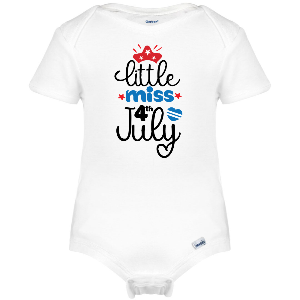 ff7387619 Little Miss 4th July Onesie®, Patriotic Baby Clothes – Boho Baby Dreams