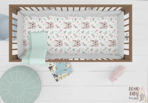 Owls Crib Sheets, Woodland Nursery
