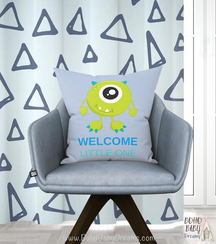 Blue Welcome Little one pillow | Birth Announcement Pillow!