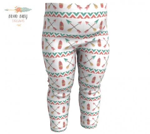 Stripes Arrows Baby Leggings |  Boho Style Baby  Clothes!