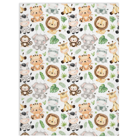 Safari Minky Blanket, Safari Bedroom Decorations