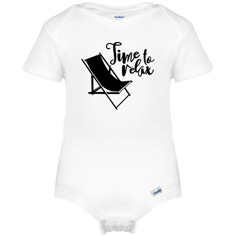 Time to Relax Onesie®, Camper Life Baby Clothes