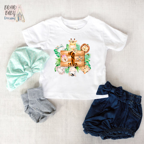 One Girl Baby Shirt, Safari Girl Baby Clothes