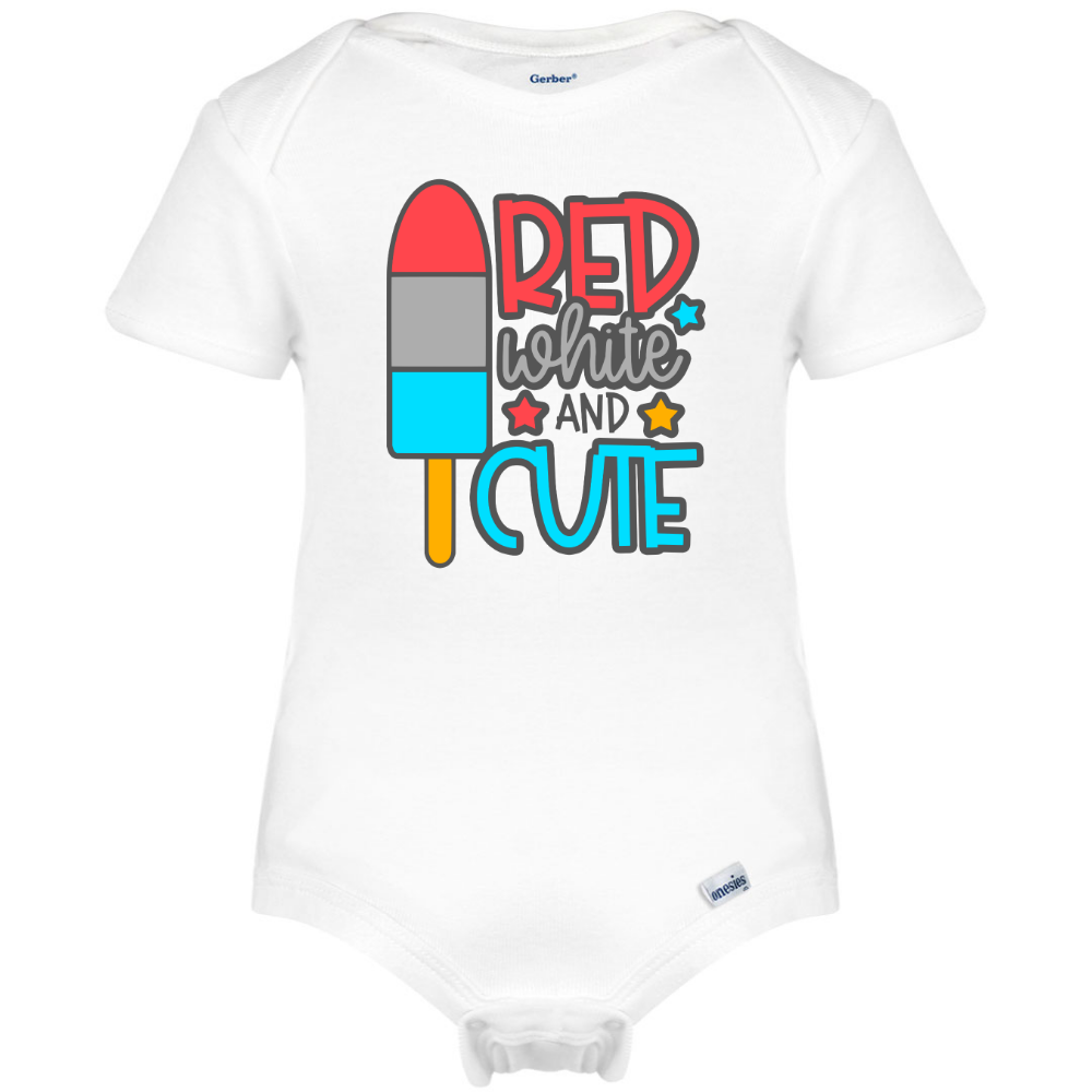 55c96b868 Red White and Cute Baby Onesie®, Patriotic Baby Clothes – Boho Baby ...