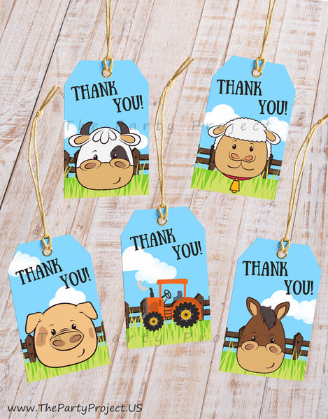 farm thank you tags | party printables