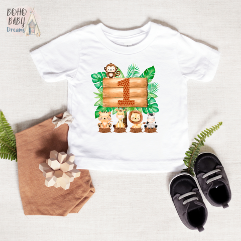One Safari Baby Shirt, Birthday Baby Clothes
