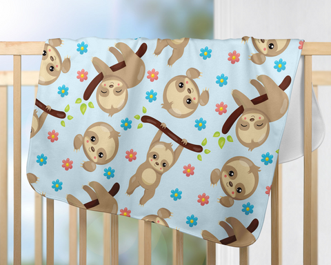Cute Sloth Baby Blanket | Nursery Decorations!
