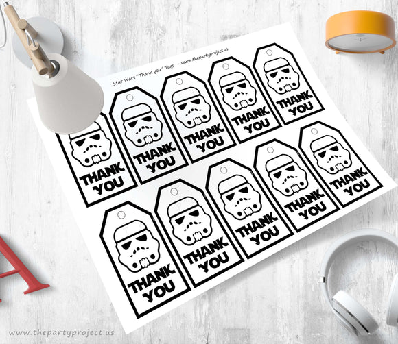 THE PARTY PROJECT | Star wars thank you tags! party printables