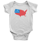 America State Baby and Toddler Shirt, Patriotic Baby Clothes