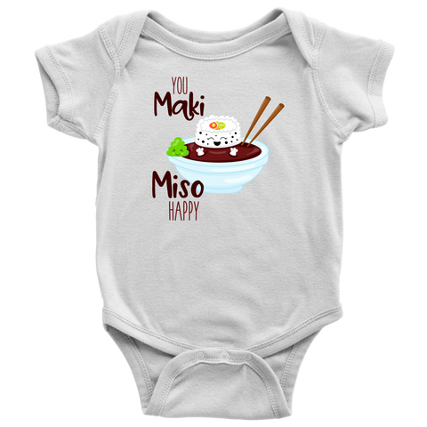 Miso Happy Baby Shirt, Funny Baby Clothes