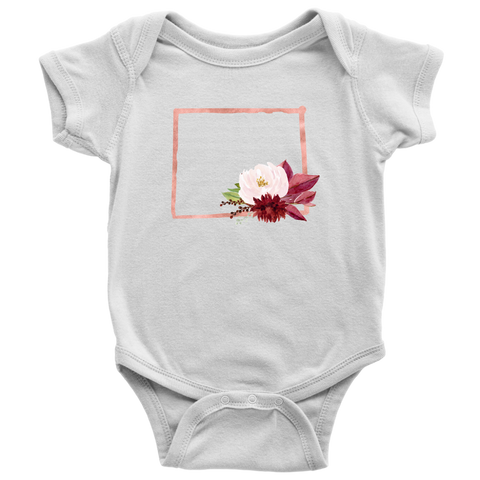 Wyoming Baby Clothes, Floral State Girl Outfit
