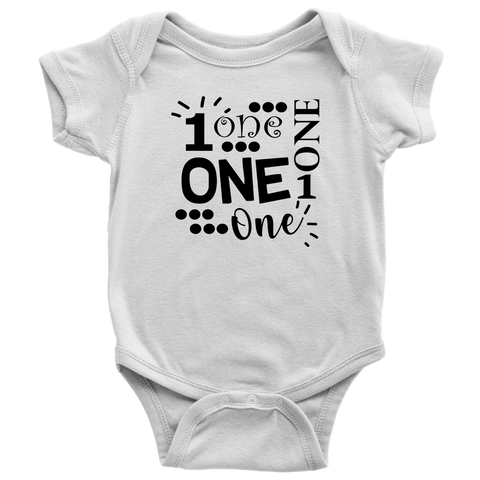 One Birthday Baby Bodysuit, Birthday Baby Clothes