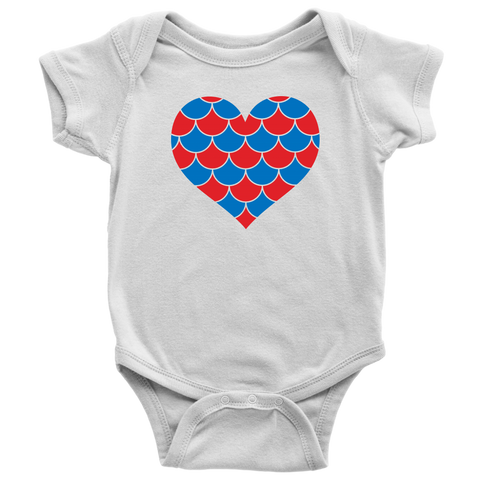 American Mermaid Heart Baby And Toddler Shirt, Patriotic Baby Clothes