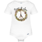 Peace & Love Baby Onesie®, Hippie Baby Clothes