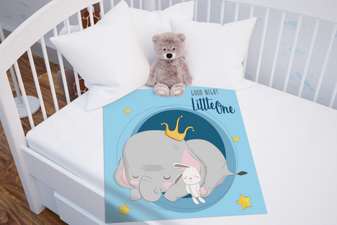 Little One Baby Blanket | Cute Elephant Baby Bedding!