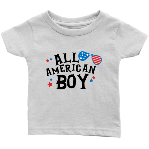 All American Boy Baby and Toddler shirt, Patriotic Boy Clothes
