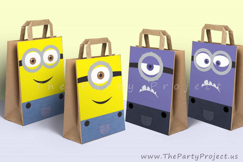 Minion favor bag decorations | Despicable me party printables